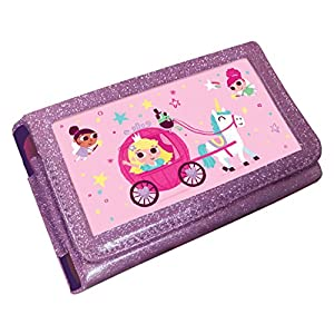 Princess Unicorn Animated 3D Pink Glitter Case (Nintendo 3DS XL / 2DS XL)