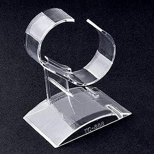 collectsound Schmuckständer für Armbanduhren, Kunststoff, transparent