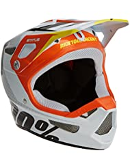 100% Status D-Day casco de bicicleta de montaña unisex, color blanco/naranja