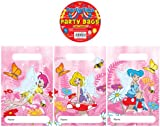 12 Fairy Design Childrens Party Bags / Kids Fillers Gifts Favours Toys Sweets