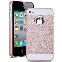 iPhone 4 Coque SmartLegend Bling Etui PC pour Apple iPhone 4 iPhone 4S Case Diamant Case Diamant Sparkle Luxe Briller Hard Case Couverture Dur Rigide Housse Protection Extrêmement Mince Légère Cover - Or