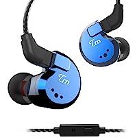 TRN V80 Auricolari Stereo In-Ear con Microfono Auricolari in Metallo, Yinyoo Four Driver 2DD + 2BA Ibrido HIFI…