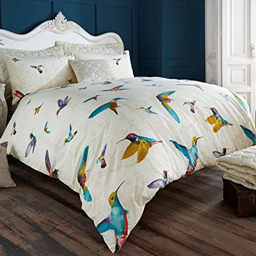 just contempo humming bird duvet cover set double