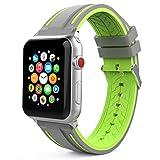 MoKo Armband Kompatibel für Apple Watch 42mm 44mm, Silikon Sport Band Uhrenarmband Erstatzband für...