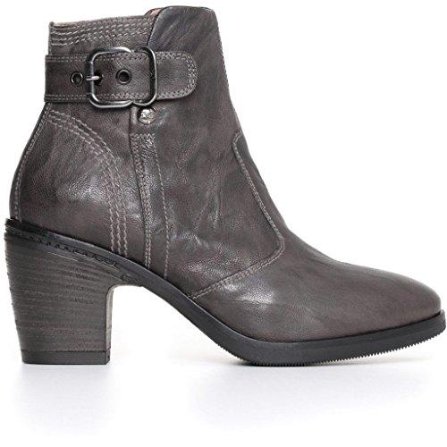 Nero Giardini Femme Bottines Noires Ou Grises A719272d Chaussures D'hiver En Cuir 2018 Plomb