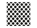 Servietten, 3-lagig, Punkte weiß/schwarz, 33x33cm, 20 Stck./Pckg. SP33-5-010
