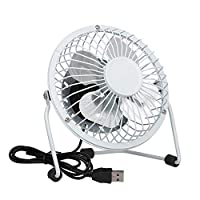 Invero® Mini USB Tilting Desktop Cooling Fan with Metal Shell and Aluminium Blades ideal for Home, Office, Laptops, Notebooks, Desktop PC
