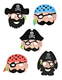 Storm&Lighthouse 6x Maschere da pirata per bambini - Riempimento per borse da party/Premi per classe/Giocattoli per bambini/Premi