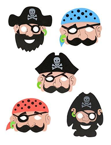 Storm&Lighthouse 12x Máscaras de Piratas para Niños - Llenador de bolsas de fiesta/Premios de aula/Juguetes para niños/Premios