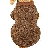 Teddybär Welpen Haustier Pullover Rosennie Haustier Hund Welpen Pullover Fleece Pullover Kleidung warme Pullover 11 Farbe Haustier Hund Welpen klassischen Pullover Fleece Kleidung Warm Winter Mode HundeKleidung Haustier T-Shirt (L, Kaffee)