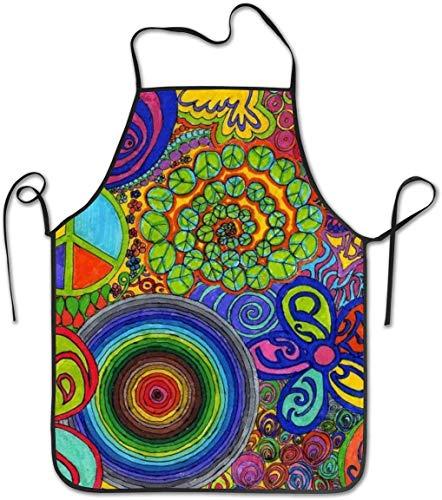 Private Eyes Kochschürze Küchenschürze Lätzchen Schürzen Zeichnungen Cap Shaped Bell Chief Schürze Home Pflegeleicht für Küche, Grill und Grill