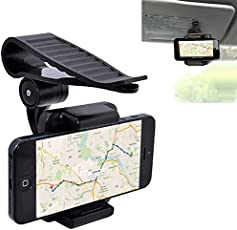 360 Degree Rotating Car Sun Visor Phone Clip Holder Stand Bracket for Samsung iPhone 8 8plus Xiaomi GPS Mobile Support