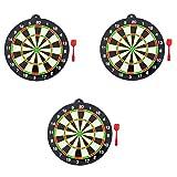 Toyvian Set di binari magnetici, Giochi da Tavolo da Esterno per casa Ufficio Giochi da Biliardo di Svago con Freccette - 3 Set (Colori Misti)