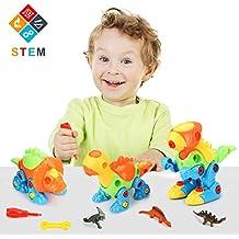 Fansteck Puzzle Dinosaurios, Desmontar y Ensamblar Dinosaurio Juguetes Tirar y Arrastrar, Juegos de Construcción