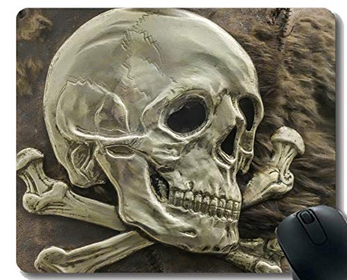 Yanteng Mouse Pad Design Personalizzato, Skull Logo Pirata Scheletro Inspirational Quote Mouse P