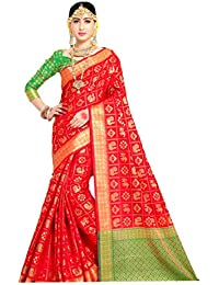 cff791fc1e The Vintage Wardrobe Women's Cotton Silk Saree (TVW003| Red | Free Size)