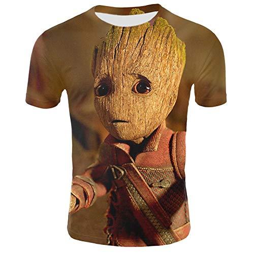 T-Shirts,Marvel Captain Shirts - Wächter Der Galaxis- I Am Groot- Unisex T-Shirt,S,Gelb (Halloween-filme 20 Besten Top Der)