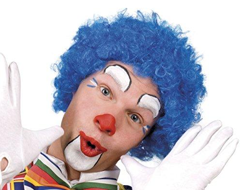 Generique - Perruque Bleue de Clown Adulte