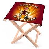 Lustapotheke Lustiger Klappstuhl aus Holz mit Wunschname - Königlicher Altersruhesitz - zur Rente