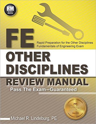 pdf download fe other disciplines review manual ebook epub rh sites google com fe civil review manual ebook Fe Exam Preparation