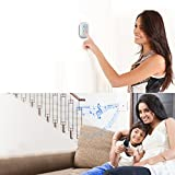 Wireless Doorbell, JETech Portable Wireless DoorBell Chime Plug-in Push Button with LED Indicator Over 50 Chimes, No Batteries Required for the Receiver (White) - 2122 Bild 5