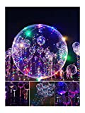 LED Ballon Magic XL 50cm Luftballon Lichterkette Helium Weiß Deko Party