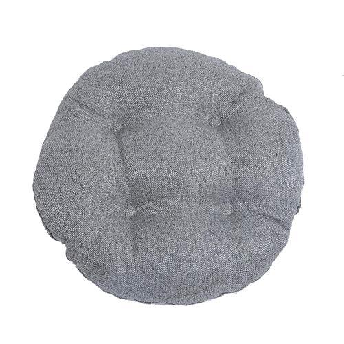 Lucky-all star Coussin en Lin imité Style Pastoral Rond - Futon épaissi Doux confortablement Tatami Coussin, Coussin de Chaise pour Salon Chambre Balcon
