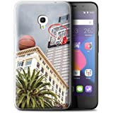 "Coque Gel TPU de STUFF4 / Coque pour Alcatel Pixi 4 5.0"" / Basket-Ball de Bureau Design / Vers Bas Sous Collection"