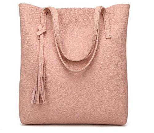 Borse Di Tote Donna Borse Casual Borse Handbag Grandi Capacità Borse Big Women,Pink Pink