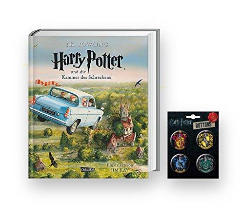 Carlsen Verlag SCHMUCKAUSGABE: Harry Potter und die Kammer des Schreckens + 1. original Harry Potter Button