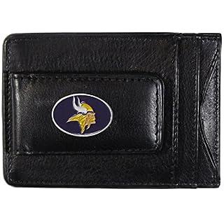 NFL Leder Geld Clip Karteninhabers, Damen Herren, Minnesota Vikings