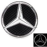 JetStyle LED Emblema Mercedes Benz 2011-2015 , Insignia para Rejilla de Radiador Logotipo, Logo Automotriz Iluminado, Aros Resplandecientes, Auto Luces Diurnas Blanco – Abrillantador de Conducción