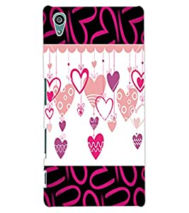 ColourCraft Love Hearts Design Back Case Cover for SONY XPERIA Z5