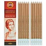 matita professionale in creta colore bianco a densità di colore variabile H8801 Kohinoor