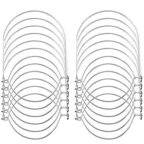 Draht-deckel (IRICH 12 Stück Wasserdicht Draht Griffe Haken für Hängen Mason Ball Solarleuchte Jar Solarlampen Deckel Einmachglas Glas Air Pflanze Sturzgläser)
