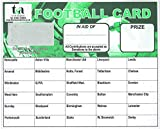 Football Fundraising Cards, 30 Team (Pack 25)