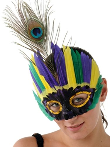 Kit Zubehör Kostüm Engel - Federn Maske für Erwachsene - Farben können von der Abbildung abweichen