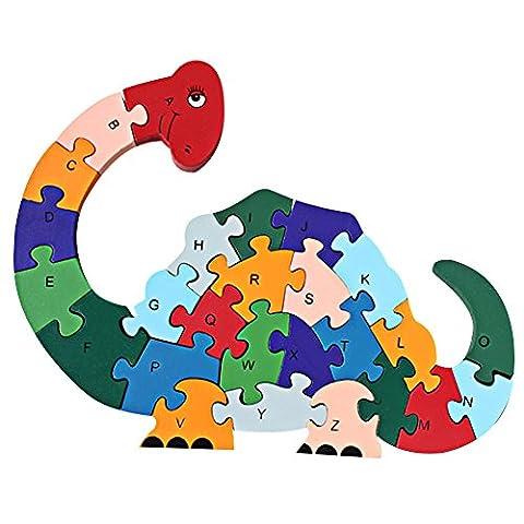 Domybest Colourful Animal Wooden Alphabet Alphabetic ABC Numbers Educational Toys