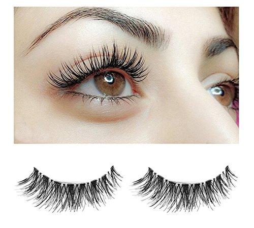Yidarton 5 paires faux cils naturel professional noir epais extension grands yeux bouclés épais faux cils