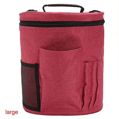 Bolsa para tejer, ideal para tejer, hilo de almacenamiento de ganchillo, tela Oxford, gran soporte de aguja, organizador de accesorios.