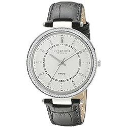 Johan Eric Damen je1000b-04-001.7ballrup Analog Display Quartz Black Watch
