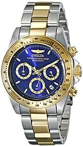 Invicta - Speedway - 3644 - Montre - Affichage - Chronographe - Bracelet - Acier inoxydable - Multicolore - Cadran - Bleu - Hommes