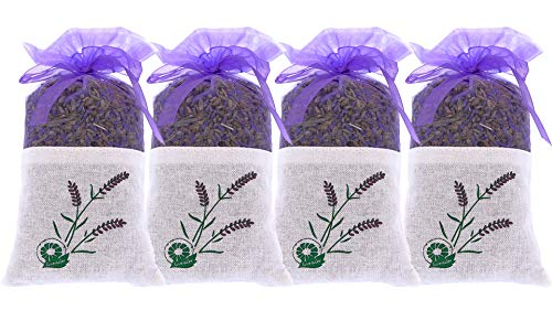 Puro Lavanda–4Sachet de 20gramos 100{18c336444f34634b7838986b2e43ef8ed9c79ce0c918b99d514f74f55af0fda4} puro de lavanda seca–fragancia para aromatherapy-car-closet-drawers-moths-wardrobe