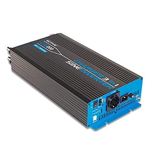 ECTIVE CSI-Serie | Sinus Wechselrichter mit Ladegerät und NVS | 24V zu 230 V | 8 Varianten: 300W - 3000W | Spannungswandler / Power Inverter