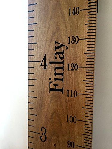 harch Holz Couture Personalisierte Luxus-Messlatte aus Holz. Zoll/Füße & cms Messungen.