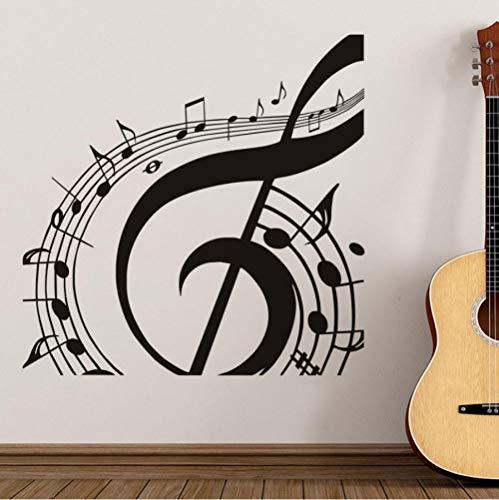 Musik zimmer musik musik blatt kunst aufkleber wohnzimmer dekoration abnehmbare dekoration selbstklebende vinyl DIY wandtattoo 59X59 CM