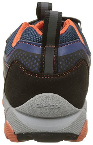 Geox J Magnetar Boy B, Basses garçon Bleu (Navy/orange)