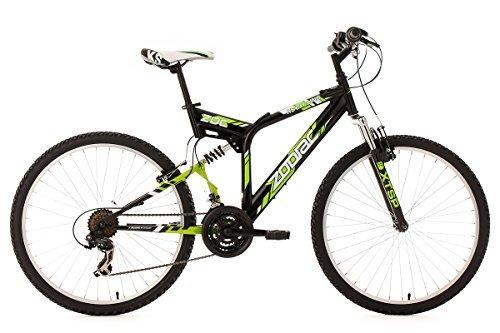 "KS Cycling Zodiac Vélo VTT 26"" Noir/Vert 46 cm"