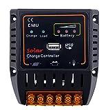 Anself 12V/24V Solarladeregler für Solarpanels mit USB-Ausgang für Reglersystem Überladeschutz
