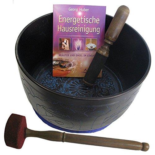 Bronze Klangschale ca. 2 Kg | 4er-Set mit Klöppel, Kissen und Buch #70012